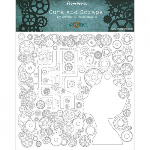 Greyboard Stamperia - Lady & Gears
