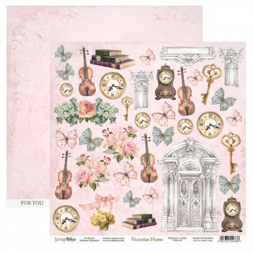 Hoja de recortables 30 x 30 Victorian Home - Scrapboys