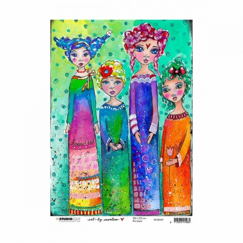 Papel de arroz A4 Art by Marlene - Four Women