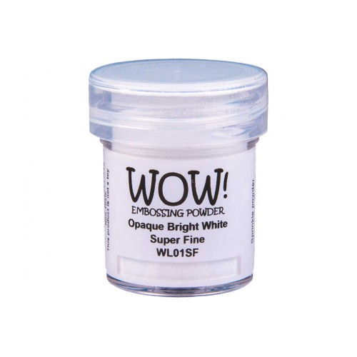 Polvos embossing WOW - OPAQUE BRIGHT WHITE SUPER FINE