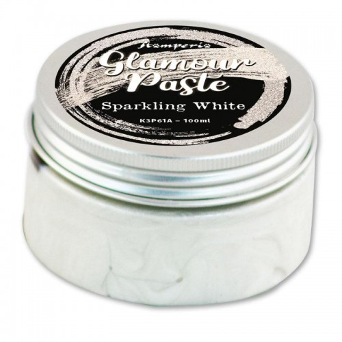 Glamour Paste Stamperia. - Sparkling white