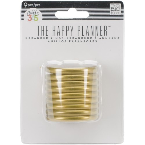Happy Planner Anillas color oro - 1,75""
