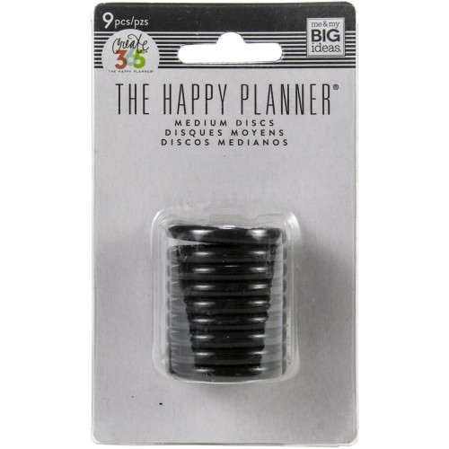 Happy Planner Anillas color negro - 1,25""