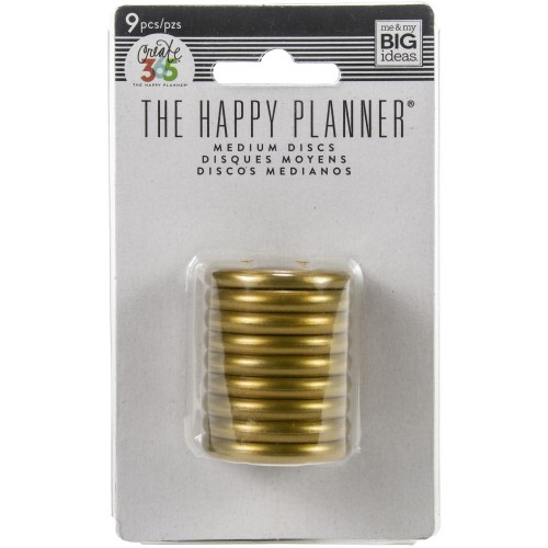 Happy Planner Anillas color oro - 1,25""
