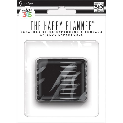 Happy Planner Anillas color negro - 1,75""