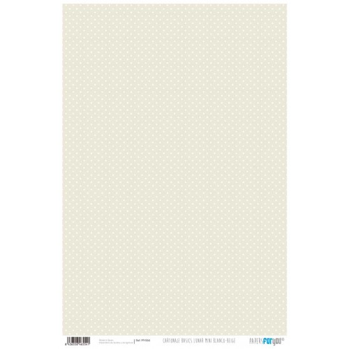 Papel Cartonaje Lunar mini Blanco-Beige 32 x 48.3 cm. Papers For You