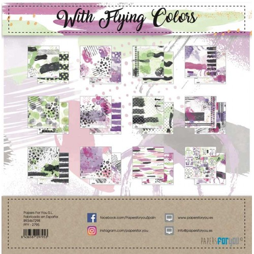 Kit 30 x 30 Papers for you - With Flying colors