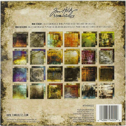 Kit de papeles Tim Holtz Idea-Ology 20x20- Abandoned