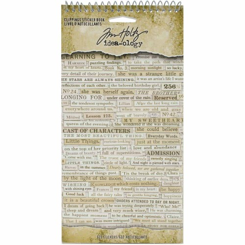 Tim Holtz Idea-Ology Sticker Book - Clippings