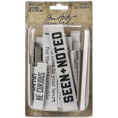 Tim Holtz Idea-Ology Chipboard Quote Chips - Theories