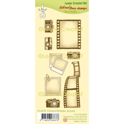 Kit sellos Cameras, Filmstrips & Pictures - Leane Creatief