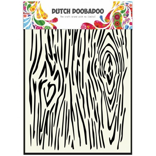 Stencil Dutch Doobadoo A5 - Woodgrain