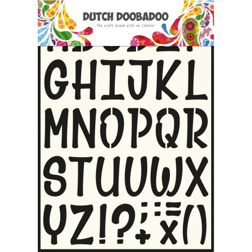 Stencil Dutch Doobadoo A4 - Alphabet 5