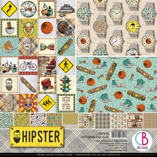Kit de Papeles Básicos (Patterns) 30 x 30 Ciao Bella - Hipster