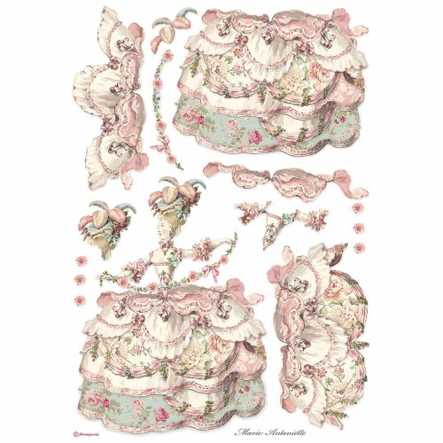 Papel de arroz DIN A-3 Stamperia - Lady Pink, Princess