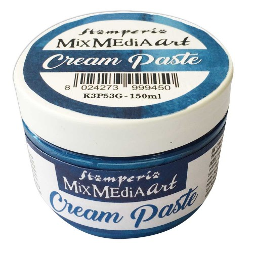 Cream Paste Metallic Blue - Stamperia