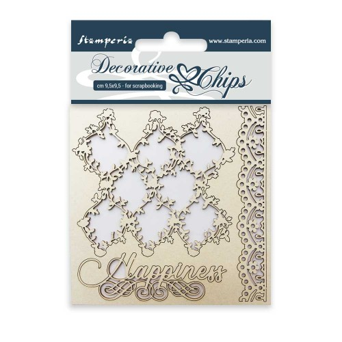 Stamperia Decorative chips - Lace & Border