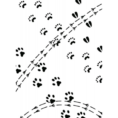Carpetas de repujado Darice - animal tracks