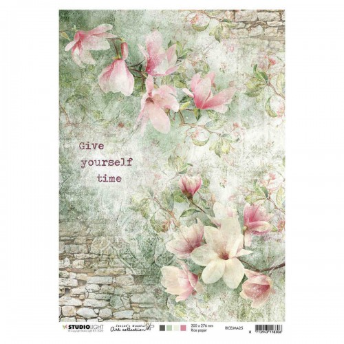 Papel de arroz A4 Jenine's mindful art nº 25