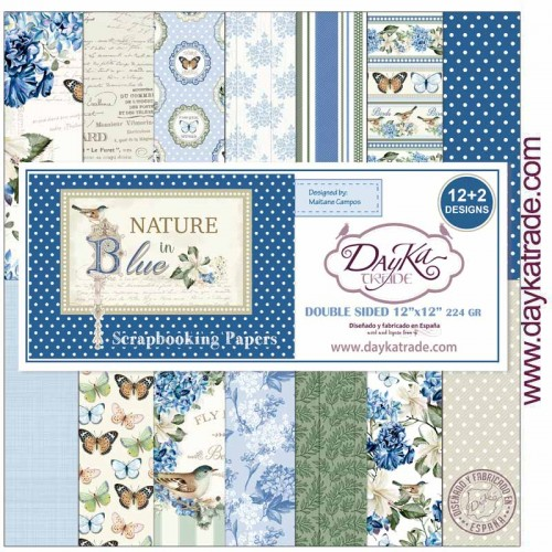 Kit de papeles 30 x 30 Nature in Blue - Dayka Trade