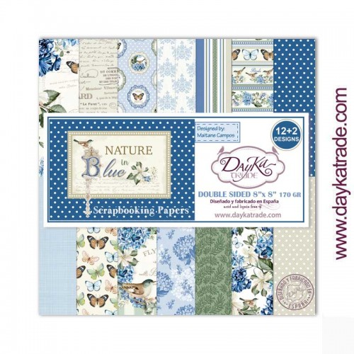 Kit de papeles 20 x 20 Nature in Blue - Dayka Trade