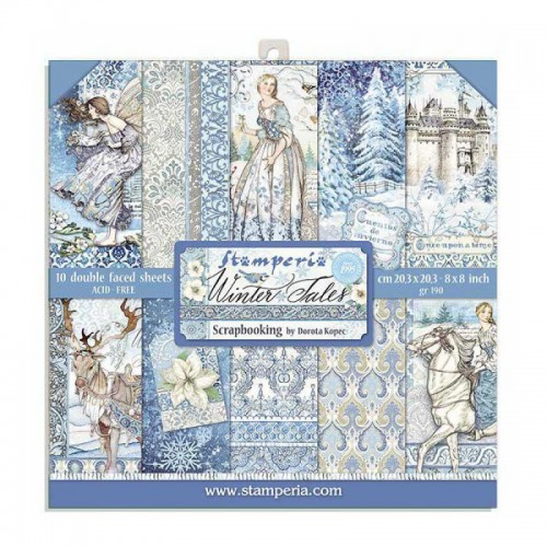 Kit de papeles de Scrapbooking 20 x 20 cm. Stamperia - Winter Tales