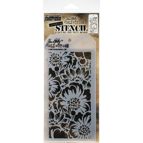 Tim Holtz Layered Stencil - Bouquet -Layered