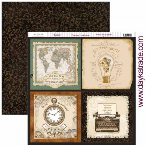 "Papel scrap Dayka colección «Antique Style"" SCP-397"