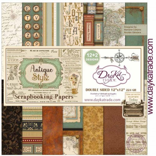 "Kit de papeles 30 x 30 ""ANTIQUE STYLE"" - Dayka Trade"
