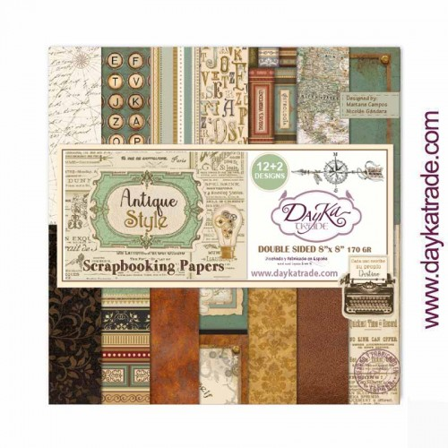 Kit de papeles 20 x 20 «ANTIQUE STYLE» - Dayka Trade