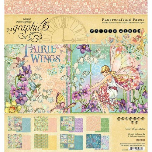 Kit de papeles 20 x 20 Graphic45 - Fairie Wings