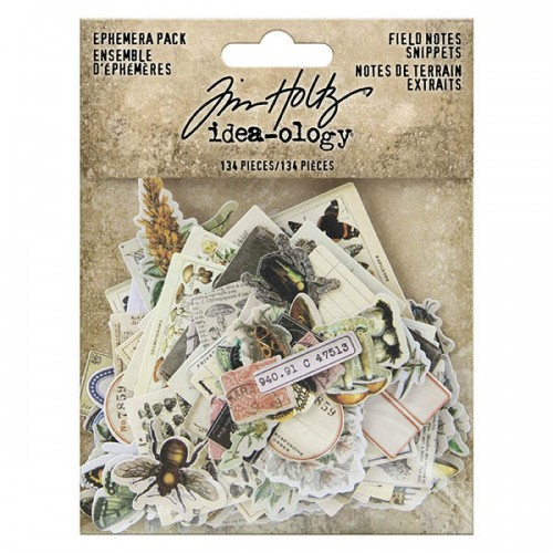 Tim Holtz Idea-Ology Ephemera Pack - Field Notes
