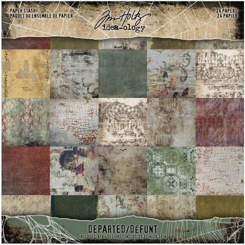 Kit de papeles Tim Holtz Idea-Ology 20x20 - Departed