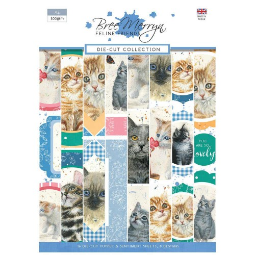 "Kit de Toppers Die Cut ""Feline Friends"""