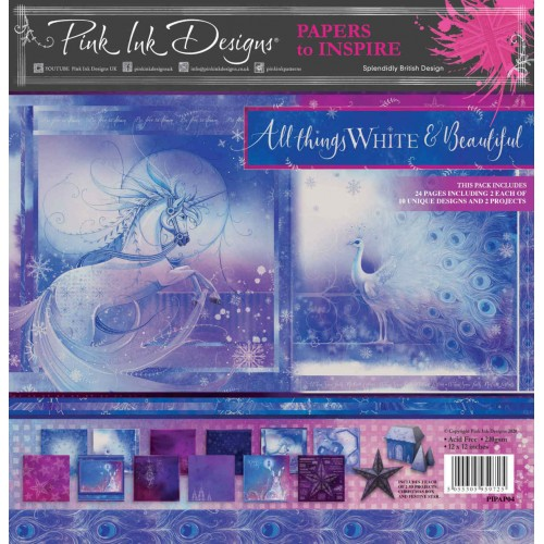 Kit de Papeles 30 x 30 Pink Ink Designs All Things White & Beautiful