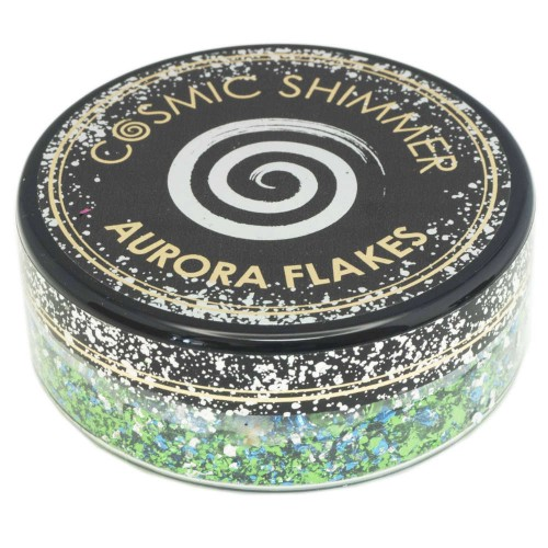 Cosmic Shimmer Aurora Flakes Icy Lagoon 50ml.