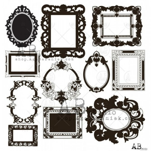 "ABStudio Gold scrapbooking paper ""Glam paper"" - Shiny other frames"