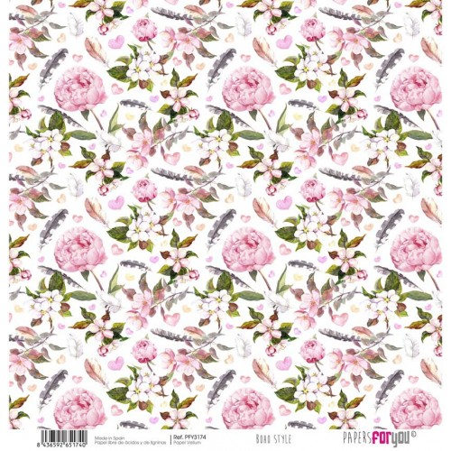 Papel Vellum Wedding Boho Style. PFY-3174 - Papers For You