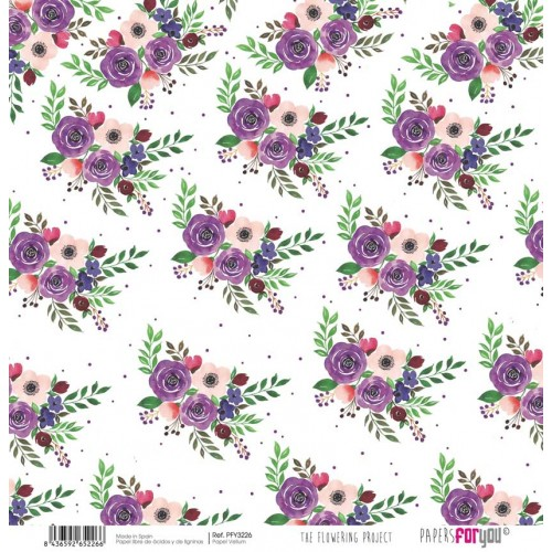 Papel Vellum The Flowering Project. PFY-3226 - Papers For You