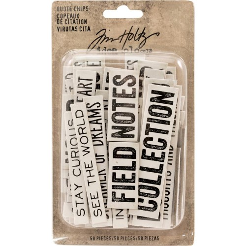 Tim Holtz Idea-Ology Chipboard Quote Chips - Word & Phrases