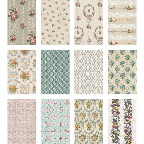 Idea-ology Tim Holtz Worn Wallpaper Kit de papeles