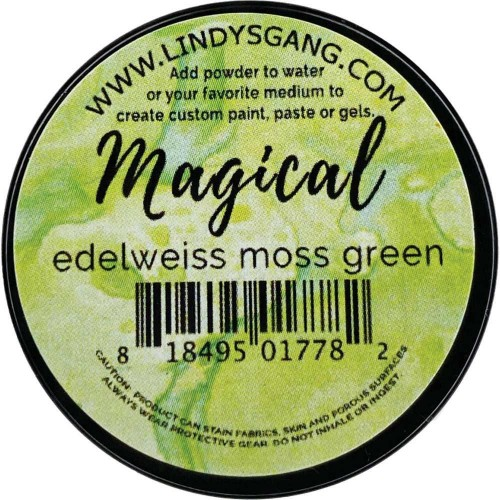 Lindy's Stamp - Pigmento Edelweiss Moss Green Magical