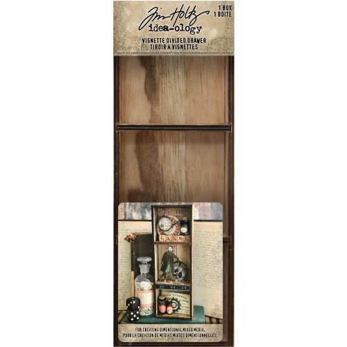 Idea-ology Tim Holtz Vignette Divided Drawer