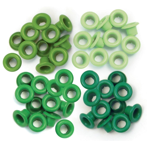 WE R MEMORY KEEPERS-Eyelets: Standard Size. Green