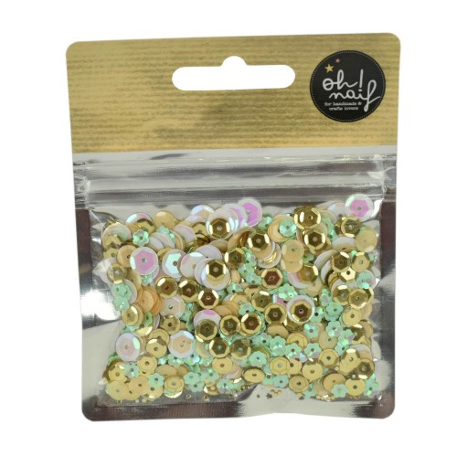 Lentejuelas Gold & Mint