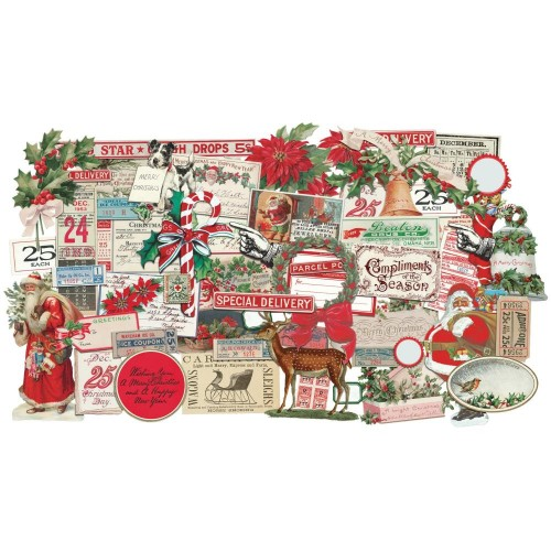 Tim Holtz Idea-Ology Ephemera Pack - Snippets Christmas