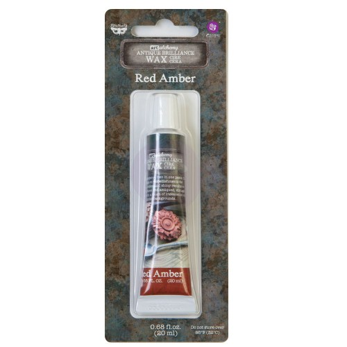 Cera Finnabair Art Alchemy Antique Brilliance Wax - Red Amber