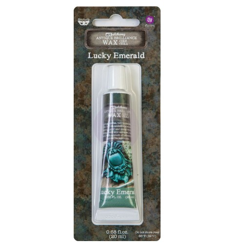 Cera Finnabair Art Alchemy Antique Brilliance Wax - Lucky Emerald