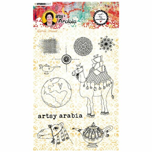 Art by Marlene Kit de sellos acrílicos Artsy Arabia n.60