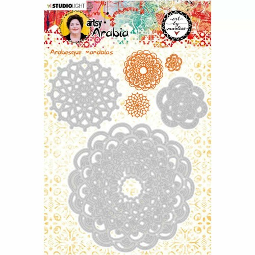 "Art by Marlene Kit de Troqueles ""Arabesque Mandalas"" Artsy Arabia n.10"